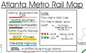 Atlanta Metro Rail Map