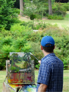 James Richards, an Atlanta resident and one of America's great plein air painters, painted recently in the Olmsted Linear Park.