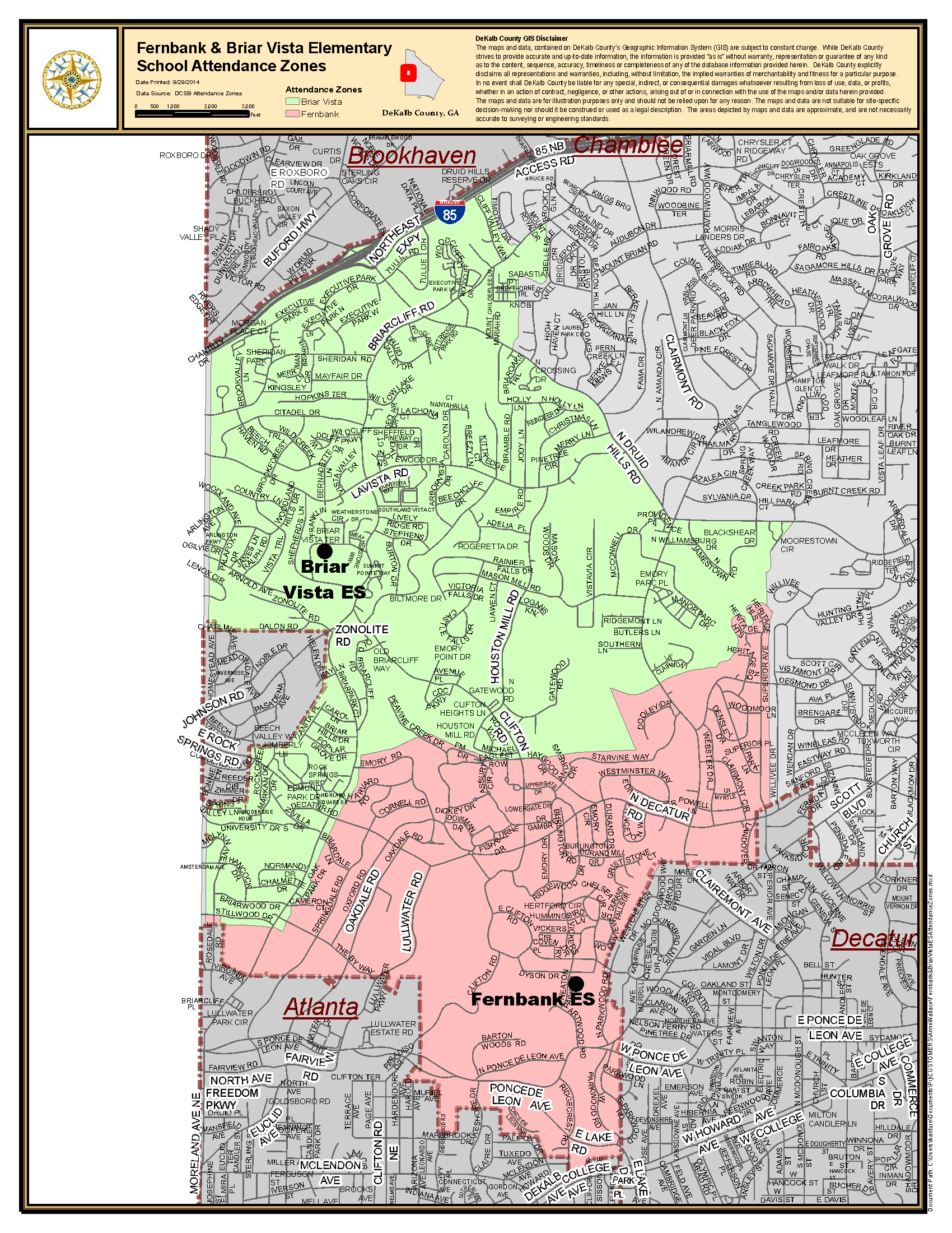 Cities Neighborhoods Map Dekalb S Future Decaturish Locally